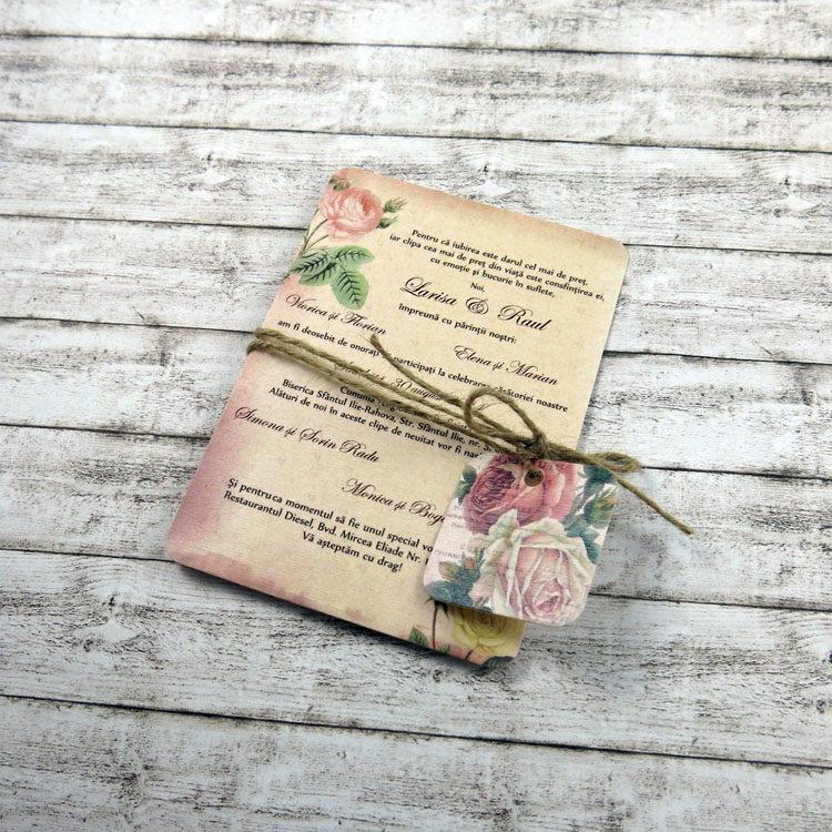 Invitație De Nuntă Vintage Postcard Doyouro