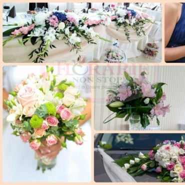 Pachet aranjamente florale nunta basic