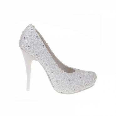 Pantofi de mireasa cu dantela Talia