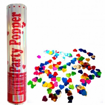 Tun confetti cu inimioare colorate 20cm