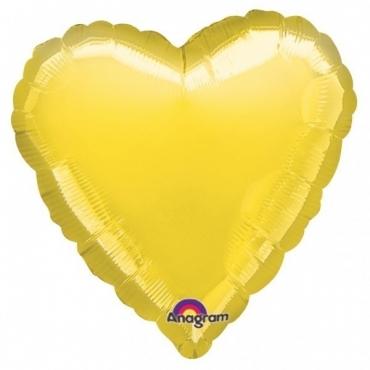 Balon folie metalizata 45cm INIMA AURIU