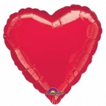 Balon folie metalizata 45cm INIMA ROSIE