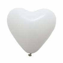 50 Baloane inimioare albe 30cm
