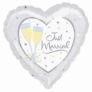 Balon folie metalizata JUST MARRIED CHAMPAGNE